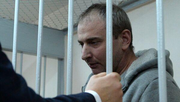 Лидер хакерской группы Шалтай-Болтай Владимир Аникеев в Лефортовском суде Москвы. 3 марта 2017