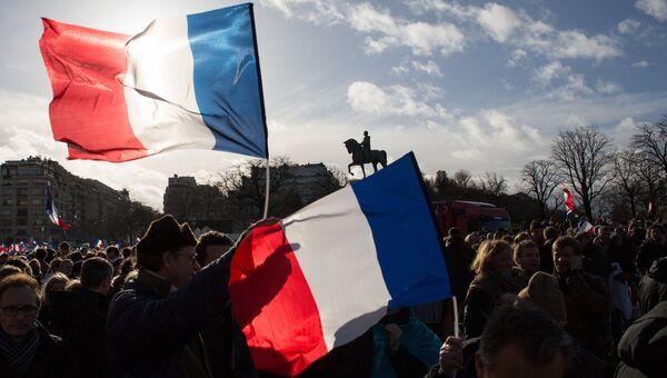 Митинг в поддержку Ф. Фийона в Париже