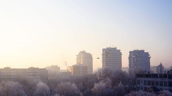 Морозное утро в Кишиневе