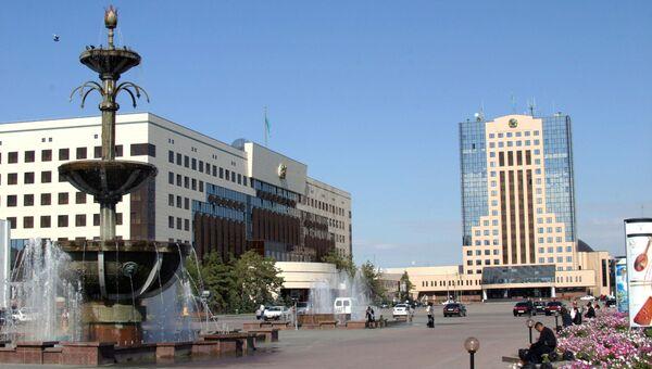 Центральная площадь столицы Казахстана Астаны. Архивное фото