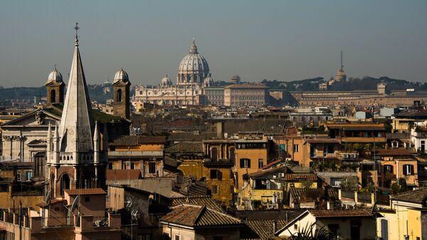 Вид Рима, Италия . Архивное фото