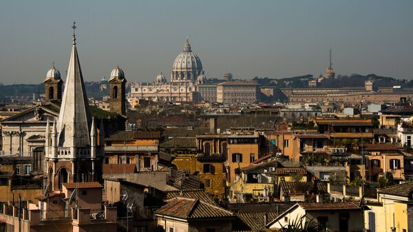 Вид Рима, Италия