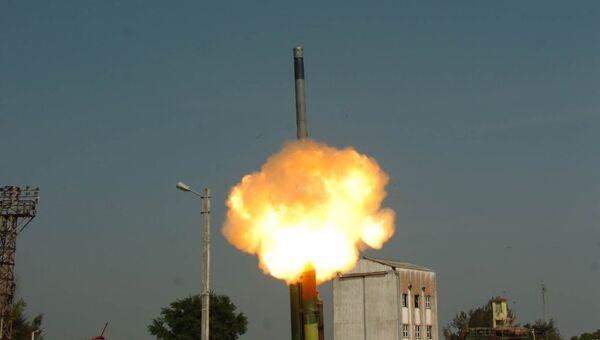 Испытательный пуск ракеты Брамос с увеличенной дальностью полета