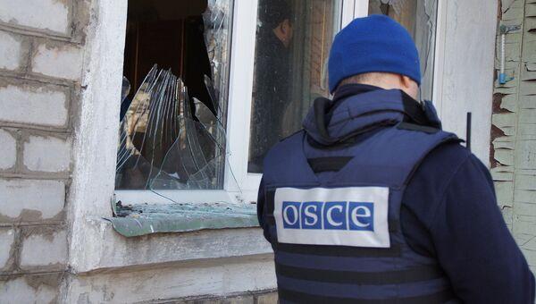 Обстрел жилого сектора города Стаханов в ЛНР. Архивное фото