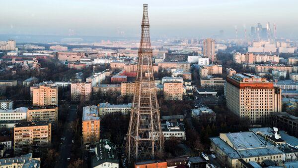 Вид на Шуховскую башню в Москве. Архив