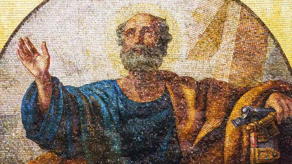 Мозаика с изображением апостола Петра в интерьере Исаакиевского собора
