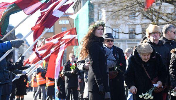 Шествие легионеров в Риге. 16 марта 2017