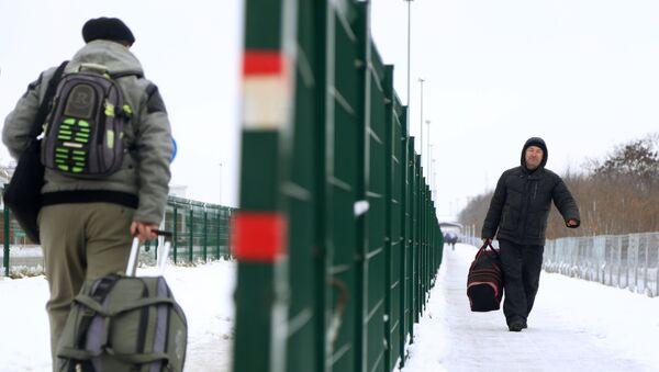 Пункт пропуска на российско-украинской границе. архивное фото