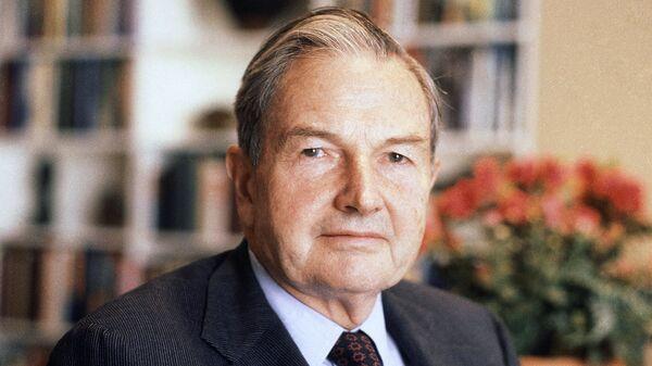 Американский миллиардер Дэвид Рокфеллер. Архивное фото
