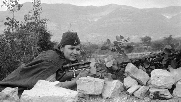 Елизавета Миронова, сражавшееся в составе 255-й Краснознамённой бригады морской пехоты Черноморского флота