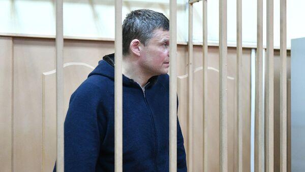 Директор ФГУП Атэкс Андрей Каминов в Басманном суде Москвы. Архивное фото