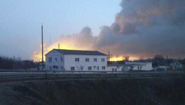 Пожар на складе боеприпасов в городе Балаклея Харьковской области. Архивное фото