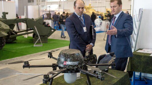 Беспилотный авиационный комплекс воздушной разведки Нелк на выставке конференции Роботизация Вооруженных сил РФ. Архивное фото