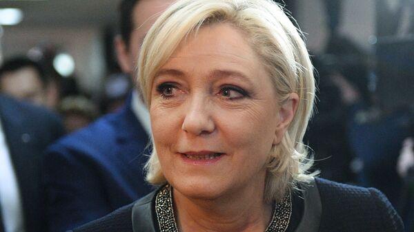 Кандидат в президенты Франции Марин Ле Пен посетила Госдуму РФ. Архивное фото