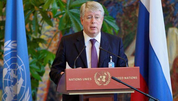 Постоянный представитель РФ при женевском отделении ООН Алексей Бородавкин. Архивное фото