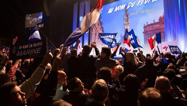 Митинг сторонников лидера политической партии Франции Национальный фронт. Архивное фото