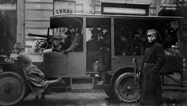 Красная гвардия на улицах Москвы