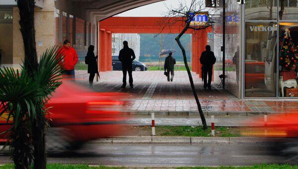 На улицах Подгорицы. Архивное фото