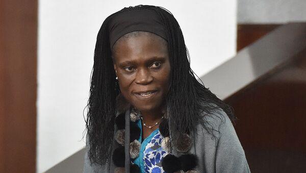 Бывшая первая леди Кот-д'Ивуара Симона Гбагбо во время суда в Абиджане