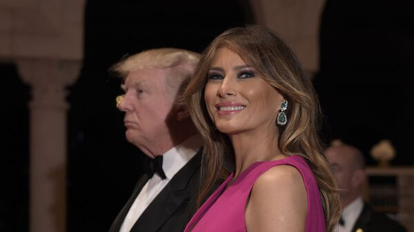 Президент США Дональд Трамп и первая леди Меланья Трамп. Архивное фото.