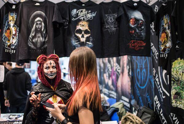 Участники Московского фестиваля татуировки 2017