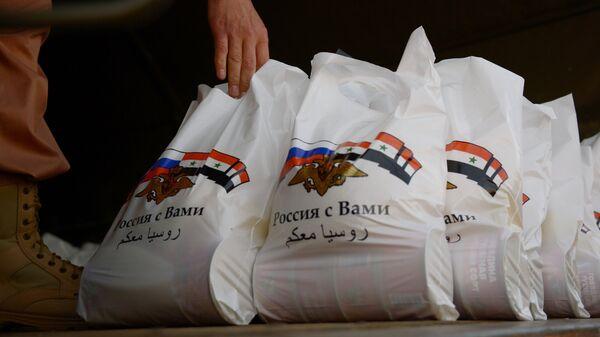 Российские военнослужащие Центра по примирению враждующих сторон доставили гуманитарную помощь в деревню Касмин в окрестностях Латакии