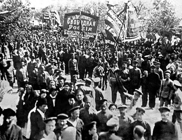 Первомайская демонстрация в Севастополе в 1917 году