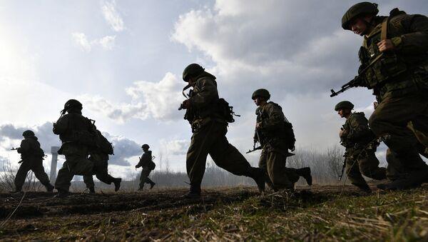 Военнослужащие МО России проводят спецоперацию во время активной фазы российско-белорусских учений тактических групп ВДВ. Архивное фото