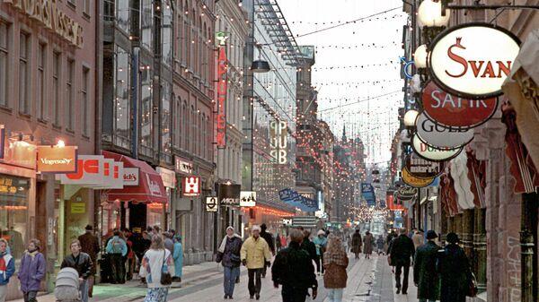 Вид улицы Стокгольма