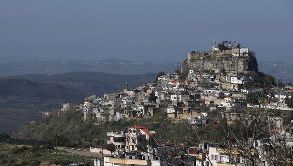 Местность по дороге из Хамы в Тишрин в Сирии