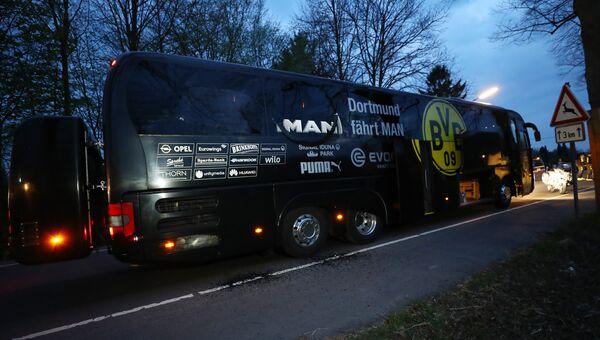 Автобус Боруссии после совершенной атаки