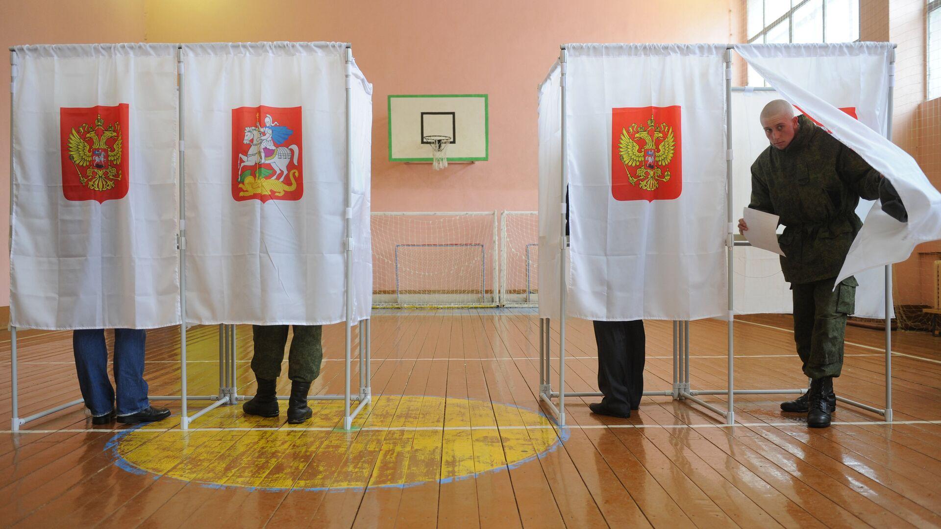 Голосование во время выборов президента РФ - РИА Новости, 1920, 27.07.2021
