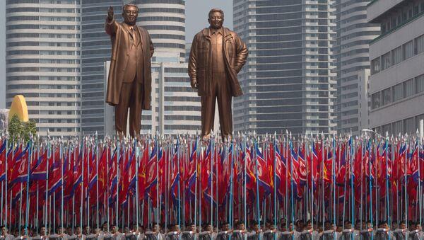 Военный парад в Пхеньяне 15.04.2017