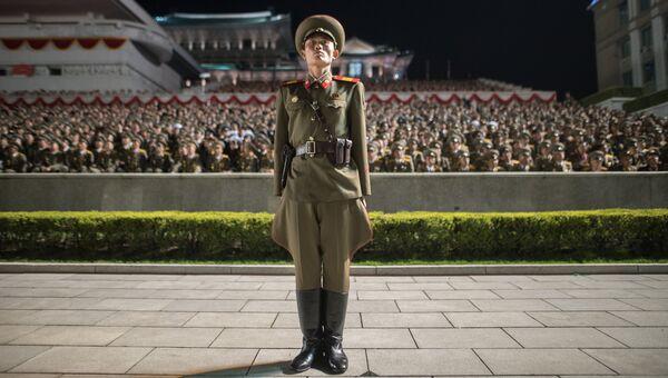 Северокорейский военнослужащий. 15 апреля 2017 года