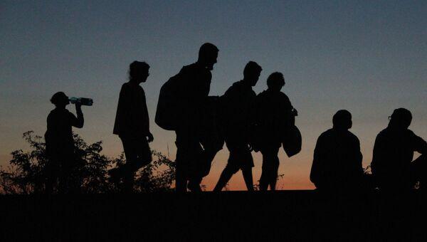 Беженцы в Европе. Архивное фото