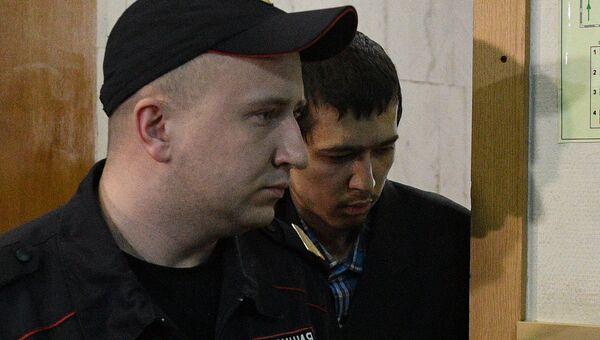 Предполагаемый организатор теракта в метро Петербурга Аброр Азимов в Басманном суде. 18 апреля 2017