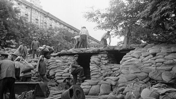 Жители Киева готовятся к обороне. Сентябрь 1941 года