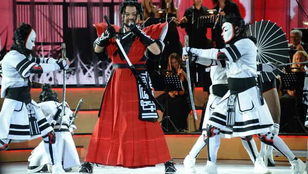 Певец Филипп Киркоров выступает на первой Российской национальной музыкальной премии в Крокус Сити Холле в Москве