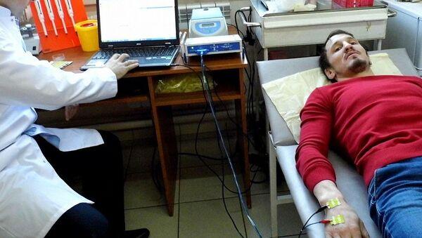 Александр Богомоев в отделении реанимации Усть-Ордынской больницы