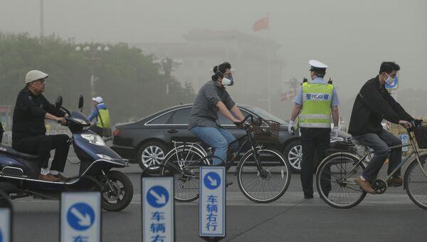 Смог в Пекине. Китай, 4 мая 2017