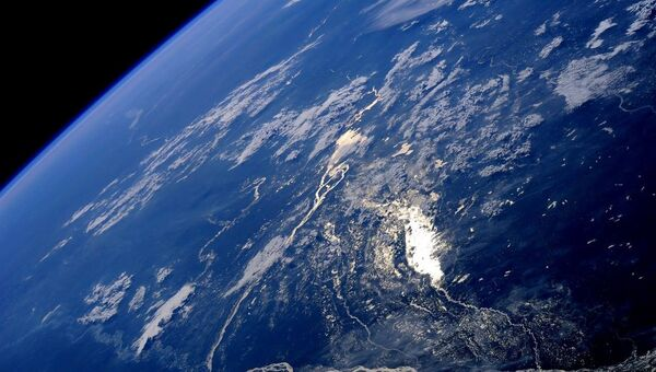 Вид на Землю из космоса. Архивное фото