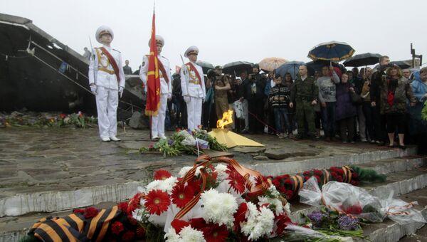 Акции памяти, посвященные Дню Победы, на Саур-Могиле в Донецкой области