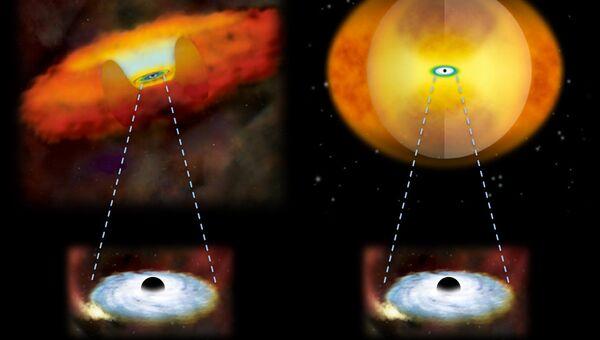 Астрономы НАСА выяснили, что слияния галактик заставляют черные дыры одеваться в пылевую шубу