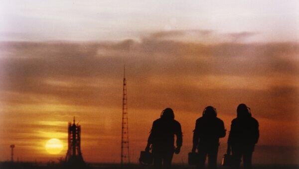 На территории космодрома Байконур. Архивное фото