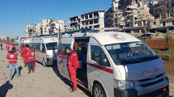 Машины Скорой помощи в Сирии