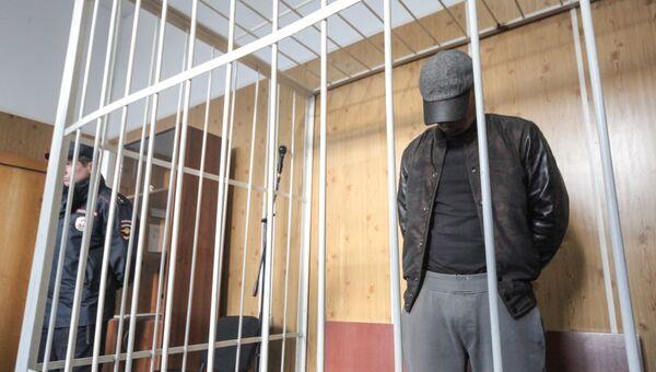 Водитель BMW Р.Вьюнов на избрании ему меры пресечения в Хамовническом суде. Архивное фото