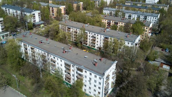 Пятиэтажные жилые дома в районе Коптево, включенные в программу реновации. Архивное фото