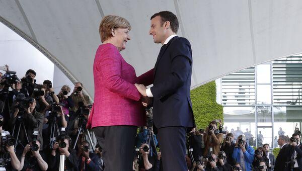 Канцлер Германии Ангела Меркель и президент Франции Эммануэль Макрон. Архивное фото