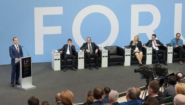 Председатель правительства РФ Дмитрий Медведев на VII Петербургском международном юридическом форуме. 17 мая 2017