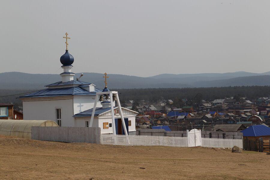 Храм Державной иконы Божьей Матери в поселке Хужир, остров Ольхон